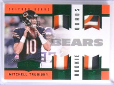 2017 Panini Plates & Patches Mitchell Trubisky quad patch rookie #D07/10 *71052