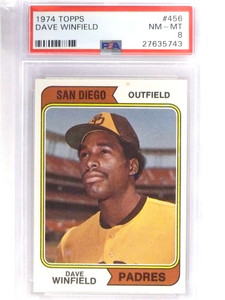 1974 Topps Dave  Winfield rc rookie #456 Psa 8 NM-MT *70947