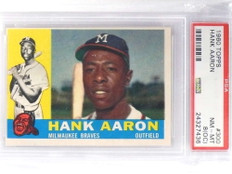 1960 Topps Hank Aaron #300 PSA 8 OC Nm-MT Braves *70940