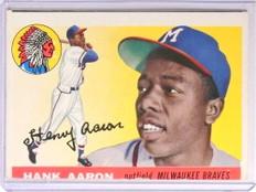 1955 Topps Hank Aaron #47 VG Miscut *71031