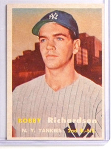 1957 Topps Bobby Richardson rc rookie #286 EX *71058