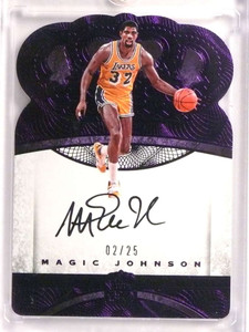 2016-17 Preferred Crown Royale Purple Magic Johnson autograph #D02/25  *71016