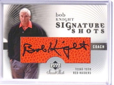 2005-06 Sweet Shot Signature Shots Bob Knight autograph auto #SS-BK *71020