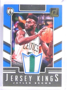 2017-18 Donruss Jersey Kings Jaylen Brown 2 color patch #D01/10 #JK-JB *71103