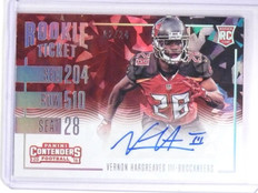 2016 Contenders Cracked Ice Vernon Hargreaves Rookie Autograph #D02/24 #295 *639