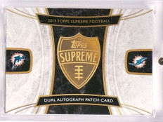2013 Topps Supreme Dan Marino Ryan Tannehill autograph patch book #D6/15 *70967