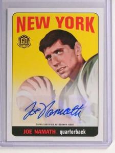 2015 Topps 60th Anniversary Joe Namath autograph auto #T60RA-JN *70974