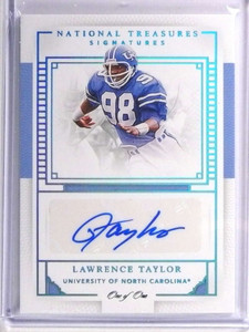 2016 National Treasures Signatures College Lawrence Taylor autograph #D1/1 *70983