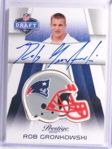 2010 Prestige NFL Draft Helmets Rob Gronkowski autograph auto rc rookie *71023