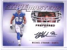 2017 Panini Preferred Stare Masters Michael Strahan autograph auto #D01/10 *71029