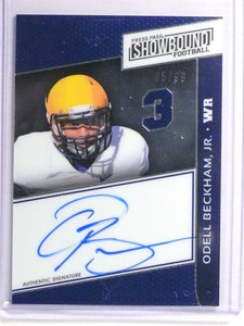 2014 Press Pass Showbound Blue Odell Beckham Jr. autograph auto rc /99 *71037