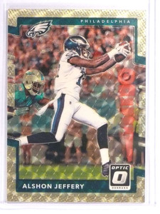 2017 Donruss Optic Gold Vinyl Superfractor Alshon Jeffery #D 1/1 *70979