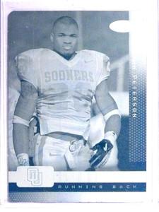 2007 Sage Aspire Adrian Peterson rc rookie Cyan Printing Plate #D 1/1 *71126