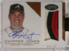 2016 Topps DYnasty Chipper Jones Patch Autograph #D04/10 #APCJ4 *71299