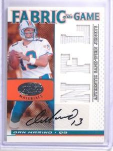 2007 Leaf Certified Fabric Game Dan Marino Jersey Autograph #D05/10 #FOG113 *639