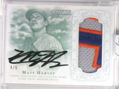 2015 Topps Dynasty Matt Harvey Patch Autograph auto #D4/5 #APMH6 *71320