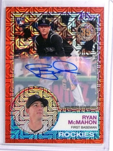 2017 Topps '83 Silver Pack Red Ryan McMahon Rookie AUtograph #D3/5 #44 *71330