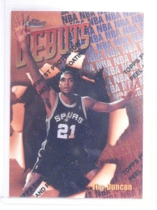 1997-98 Topps Finest Tim Duncan Rookie RC #101 Bronze Common *64613