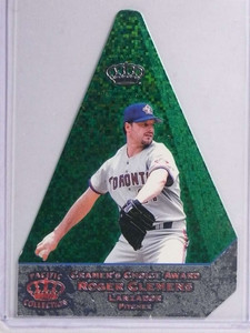 1998 Pacific Invincible Cramer's Choice Award Green Roger Clemens #D29/99 *71184