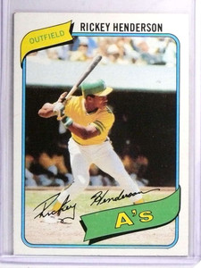 1980 Topps RIckey Henderson Rookie RC #482 EX *71374