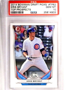 2014 Bowman Draft Top Prospects Kris Bryant Rookie RC PSA 10 GEM MT *71394