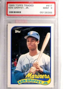 1989 Topps Traded Ken Griffey Jr. Rookie RC PSA 9 MINT #41t *71404