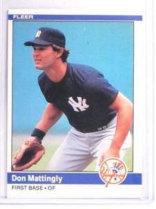 1984 Fleer Don Mattingly Rookie RC #131 NM *71405