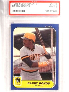 1986 Fleer Update Barry Bonds Rookie RC PSA 9 MINT #U14 *71444