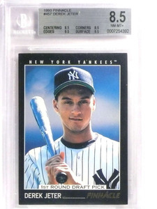 1993 Pinnacle Derek Jeter Rookie RC BGS 8.5 NM-MT+ *71445