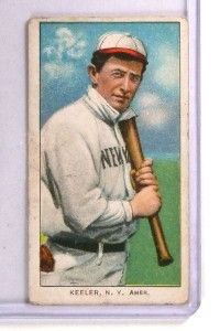 1909-11 T206 Willie Keeler w/ Bat Sweet Caporal Red Back #248 GD *71351