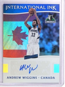 2016-17 Aficionado International Andrew Wiggins Autograph auto #D16/60 *71335