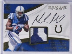 2017 Panini Immaculate Marlon Mack autograph auto patch rc #D27/99 #114 *71230
