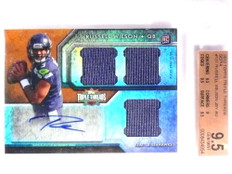 2012 Topps Triple Threads Russell Wilson RC Jersey Autograph #d/70 BGS 9.5 *71306