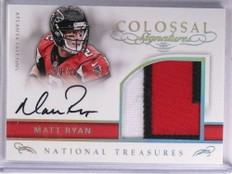 2016 National Treasures Colossal Matt Ryan Patch Autograph #D03/10 #23 *71312