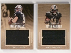 2017 Panini Preferred Drew Brees Alvin Kamara jersey book #D79/199 *71224