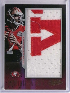 2013 Panini Absolute Patches Colin Kaepernick jumbo patch #D19/25 #15 *71228