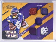 2017 Absolute Tools of the Trade Stefon Diggs quad Glove Ball jersey #d/25 *71416