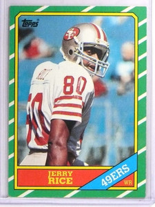 1986 Topps Jerry Rice Rookie RC #161 EX *71363