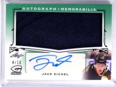 2015-16 Leaf Genesis Green Jack Eichel Rookie Jersey Autograph #D4/10 *71336