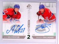 2013-14 SP Authentic Sign of Times Galchenyuk Gallagher Autograph #D03/25 *71368