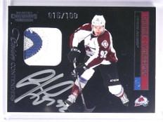 2011-12 Contenders Gabriel Landeskog Patch Autograph rc #D015/100 #208 *71372