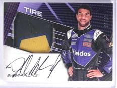 2017 Panini Torque Purple Bubba Wallace Tire Autograph auto #D09/10 *71358