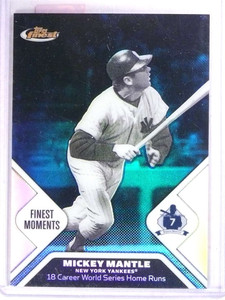 2006 Topps Finest Moments Blue Refractor MickeyMantle #D257/299 #MM11 *71703
