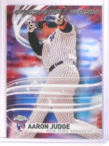 2017 Topps Chrome Freshman Flash Refractor Aaron Judge Rookie RC #FF11 *71832
