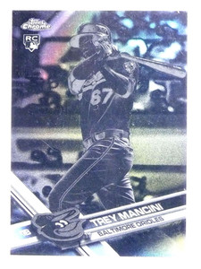 2017 Topps Chrome Black & White Negative Trey Mancini Rookie RC #47 *71845