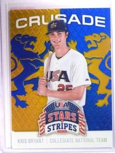 2015 Panini USA Stars & Stripes Crusade Blue Kris Bryant Rookie RC #59 *71846