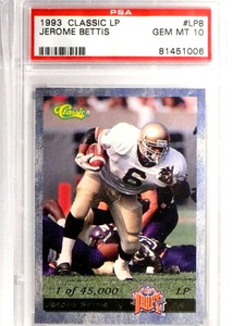 1993 Classic LP Jerome Bettis Rookie RC #LP8 PSA 10 GEM MT *71631