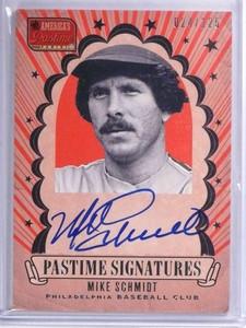 2013 Panini America's Pastime Mike Schmidt autograph auto #D24/125 *71938