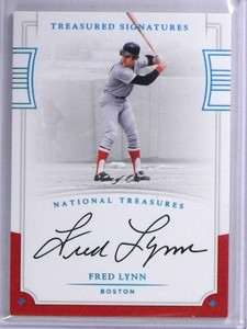 2017 National Treasures Treasured Sigs Fred Lynn autograph auto #D 1/1 *71941