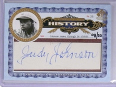 2006 SP Legendary Cuts History Judy Johnson autograph auto #D08/20 *71942